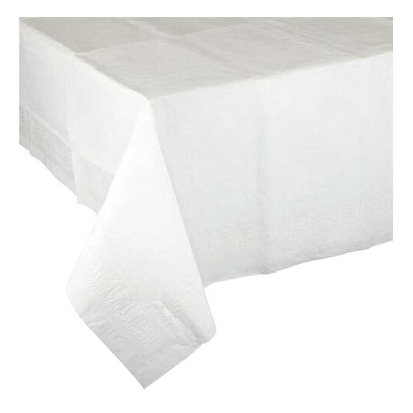 White 90cm Table Cover – single use (25)