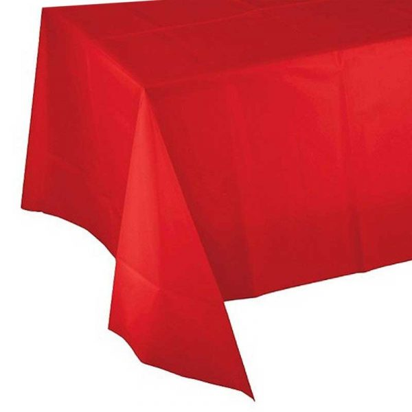 Red 100cm Table Cover – single use (200)
