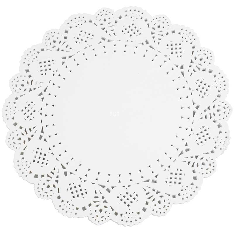 12.5″ White Circular Paper Doylies 32cm (250)