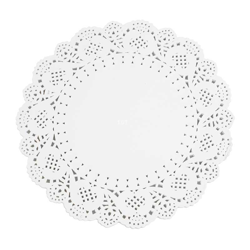 10.5″ White Circular Paper Doylies 27cm (250)