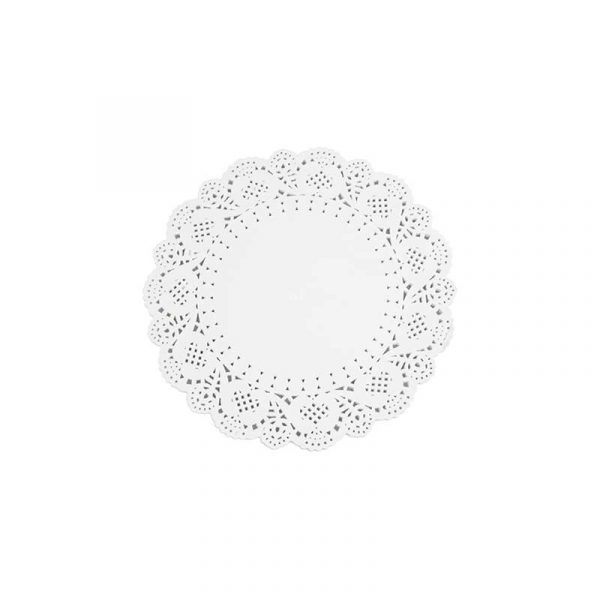 4.5″ White Circular Paper Doylies 12cm (250)