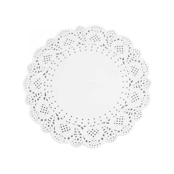 7″ White Circular Paper Doylies 16.5cm (250)