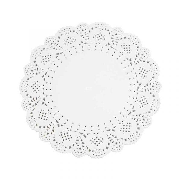 8.5″ White Circular Paper Doylies 22cm (250)