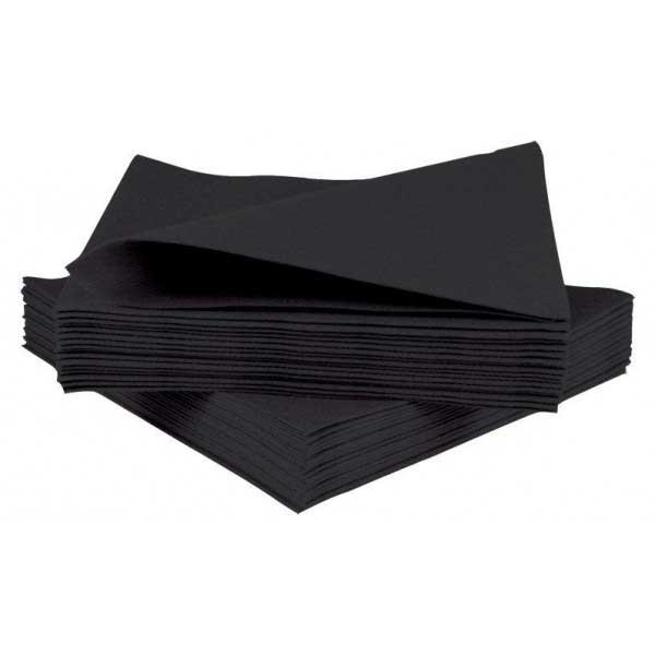 2 Ply 24cm Black Napkins (100)