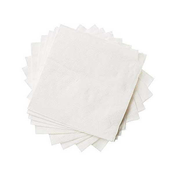 1 Ply 30cm Soft White Napkins (500)
