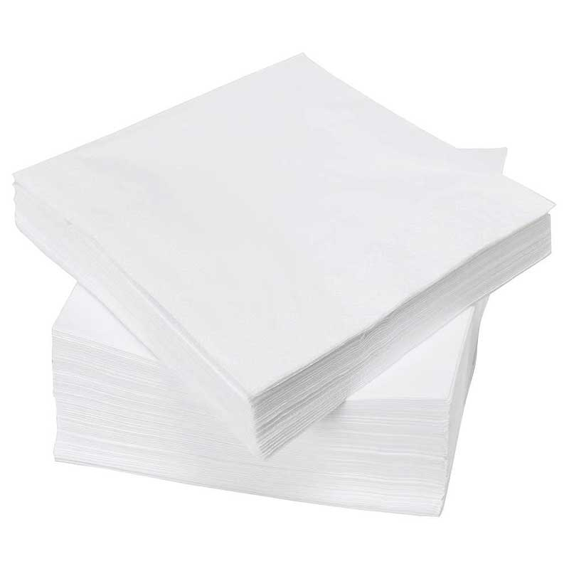 2 Ply 33cm White Napkins (100)