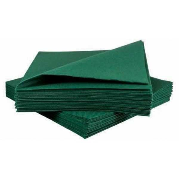 2 Ply 40cm Forest Green Napkins (50)