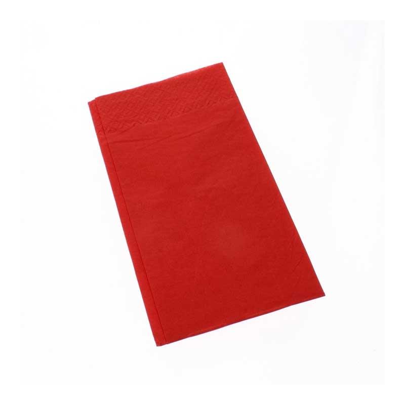 Red 8 Fold 40cm Napkins (125)