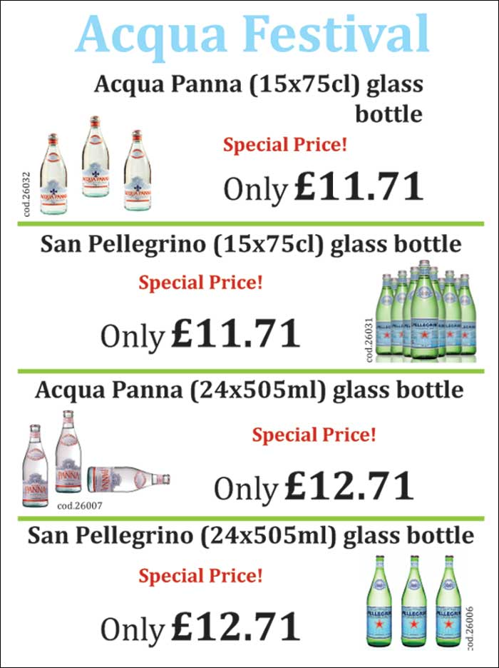 Italian Mineral Water Special Offer