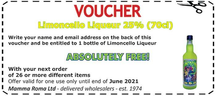 FREE Limoncello Liqueur