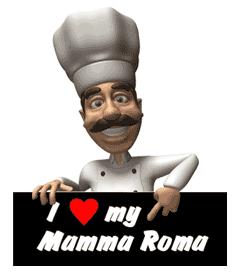Mamma Roma chef of Italian foods.