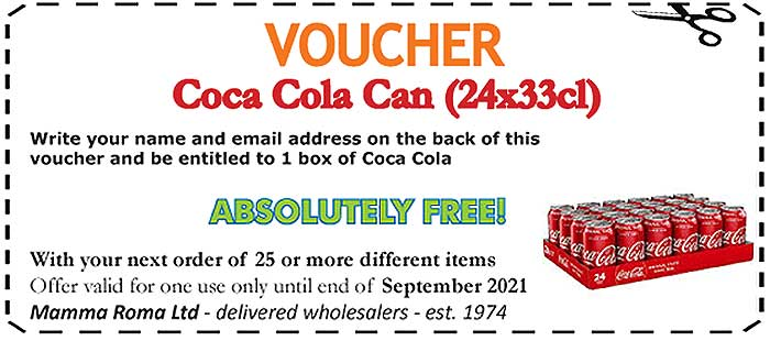 Coca Cola in Cans 24x33cl FREE