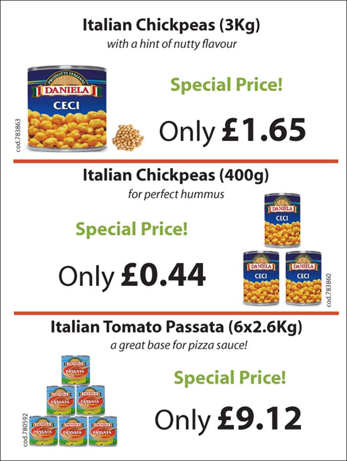 Vegetables - special offer to restaurants and cafes from Mamma Roma Ltd