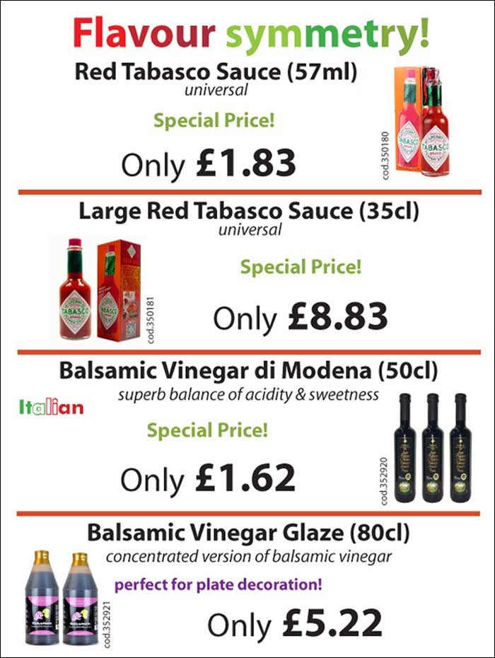 Wholesale supplies of Italian vinegar and sauces to the catering trade - Mamma Roma Ltd